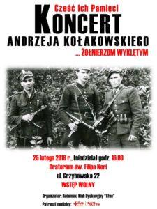 Cześć ich Pamięci — koncert Andrzeja Kołakowskiego — ...Żołnierzom Wyklętym