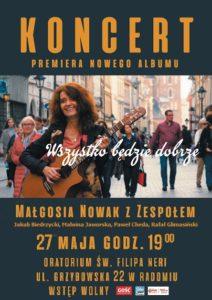 Wszystko będzie dobrze — koncert Małgorzaty Nowak z Zespołem