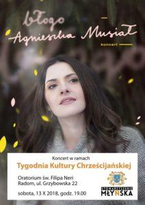 Agnieszka Musiał z zespołem — koncert muzyki chrześcijańskiej